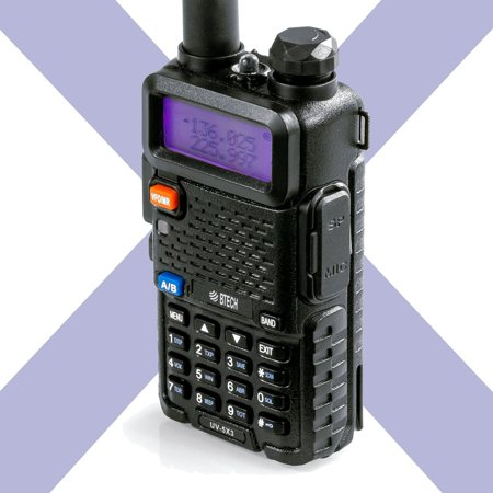 Band Ham (BTECH UV-5X3 5 Watt Tri-Band Radio VHF, 1.25M, UHF, Amateur (Ham), Includes Dual Band Antenna, 220 Antenna, Earpiece, and More)