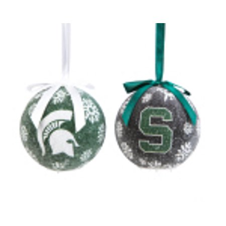 Michigan State Spartans  LED Ball Ornaments Set of 2