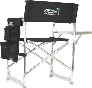 Sports Chair - COLLEGIATE Coastal Carolina Chanticleers/Black/Embroidered