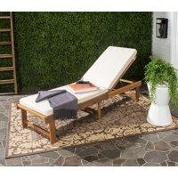 Safavieh Inglewood Outdoor Modern Chaise Lounge Chair with Cushion
