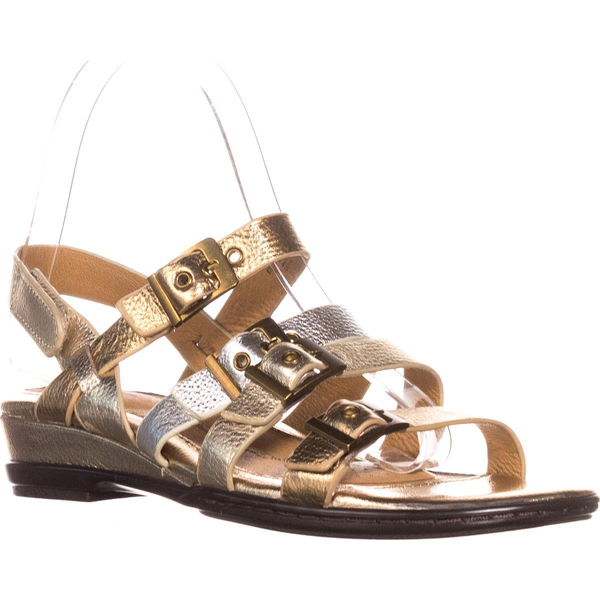 Womens Sofft Sapphire Buckle Strapped Slingback Sandals, Metallic Multi by Sofft
