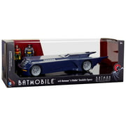 "BTAS Batmobile w/ Batman and Robin 3"" Bendables"