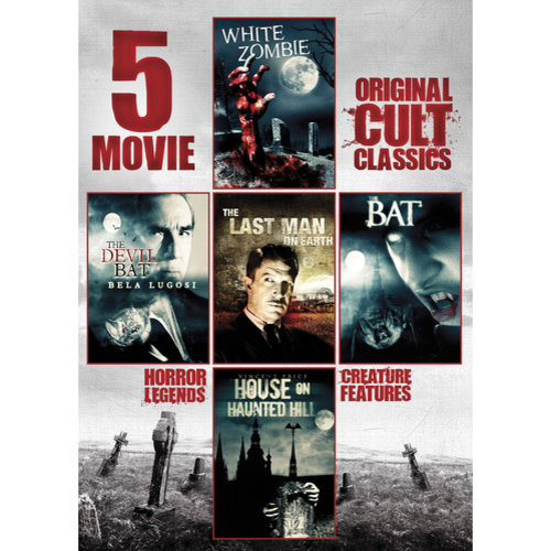 5-Movie Collection: Original Cult Classics, Vol. 1 - White Zombie / The Devil Bat / The Last Man On Earth / The Bat / House On Haunted Hill