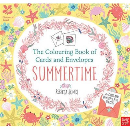 The National Trust: The Colouring Book of Cards and Envelopes - Summertime (Colouring Cards and Envelopes) (Paperback)