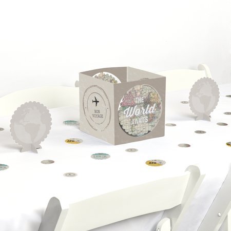 World Awaits - Travel Themed Party Centerpiece & Table Decoration Kit