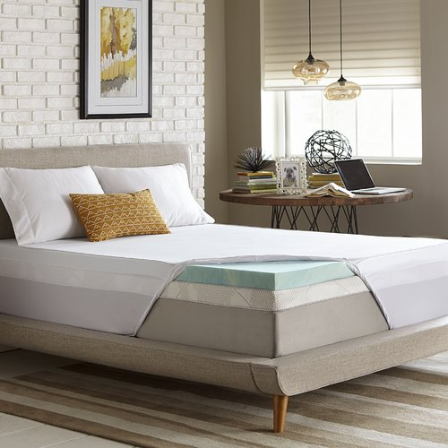 Luxury Solutions 3'' Gel Memory Foam Mattress Topper
