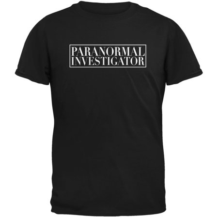 Halloween Paranormal Investigator Black Adult T-Shirt - Halloween T Shirts For Adults
