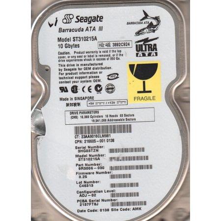 ST310215A, 3HG, AMK, PN 9R3006-030, FW 3.25, Seagate 10GB IDE 3.5 Hard Drive