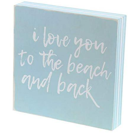 Beach House 4 Framed - Barnyard Designs I Love You to The Beach and Back Box Sign Decorative Wood Framed Plaque Beach House Home Decor 8