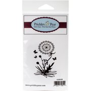 "Prickley Pear Cling Stamps 3.25""X1.75""-Dandelions & Butterflies"
