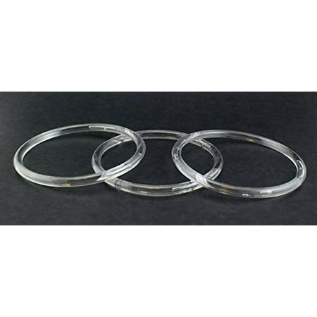 5 inch Clear Plastic Acrylic Craft Rings 5/16 inch Thick 12 (Plastic Craft Rings)
