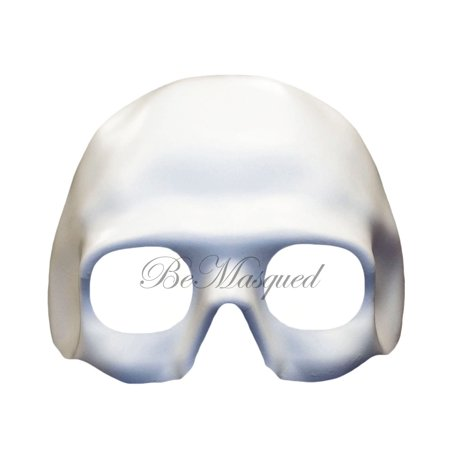 BeMasqued Skull Mask Half-Face White Unisex Adult Men Masquerade, Prom, Mardi Gras, Halloween, Costume, Party, Dia De Los Muertos, Day of The Dead](Dia De Brujas O Halloween)