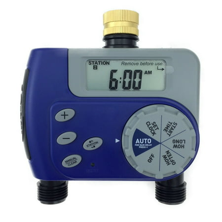- Orbit Digital Two Automatic Outlet Hose Faucet Lawn Watering Timer -27133