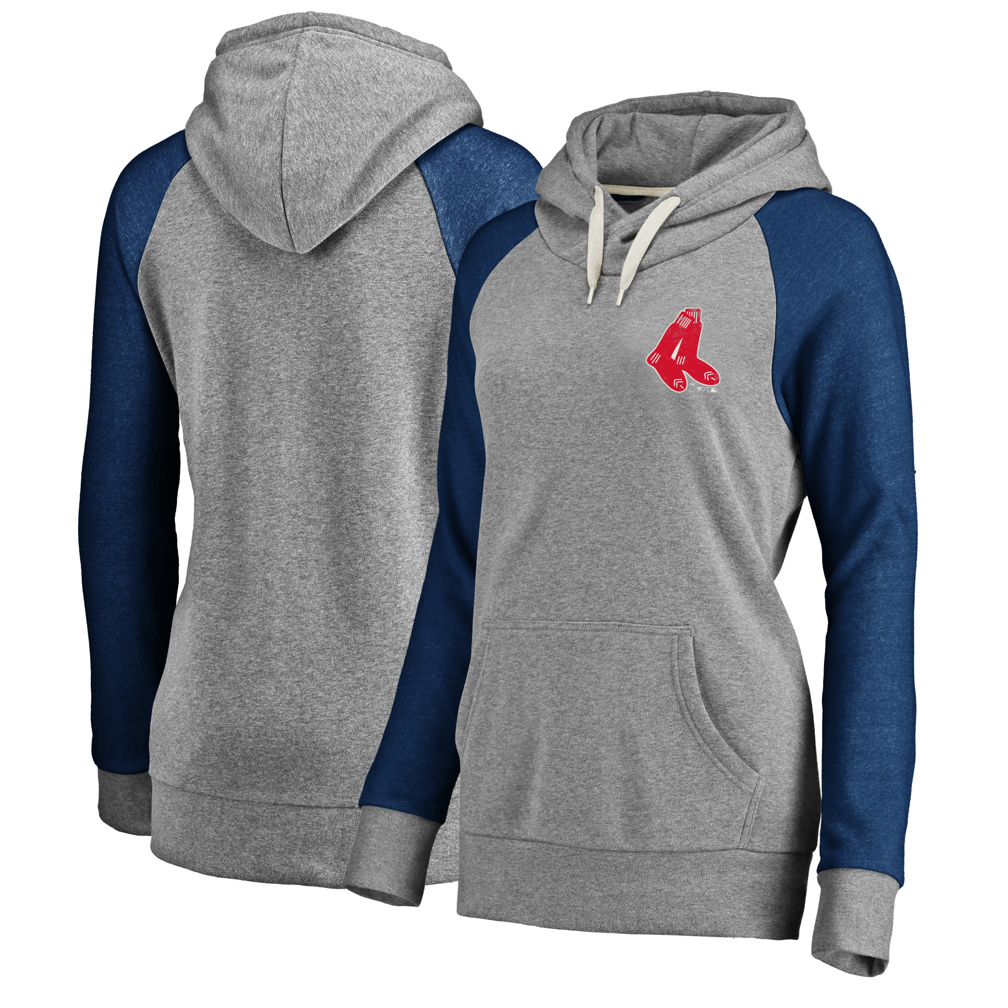 Boston Red Sox Women's Timeless Lounge Fashion Pullover Hoodie - Gray