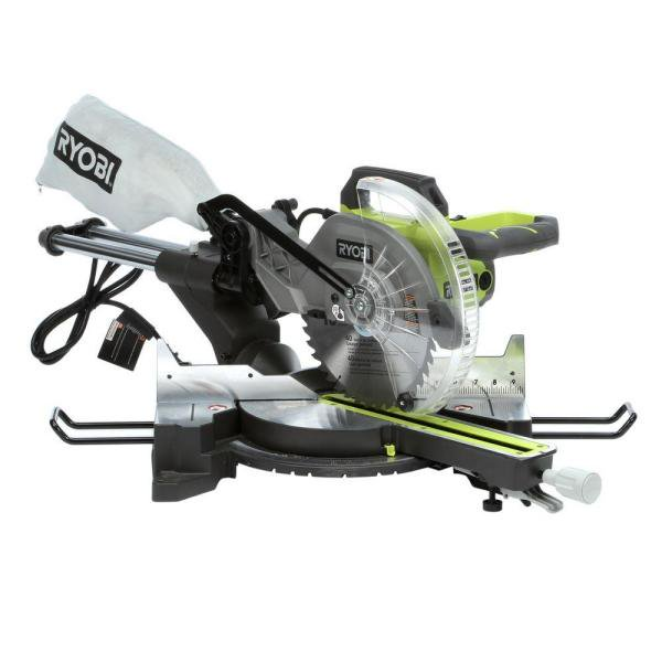 Refurbished Ryobi Tss102l 15 Amp 10 In Sliding Miter Saw With Laser Walmart Com Walmart Com