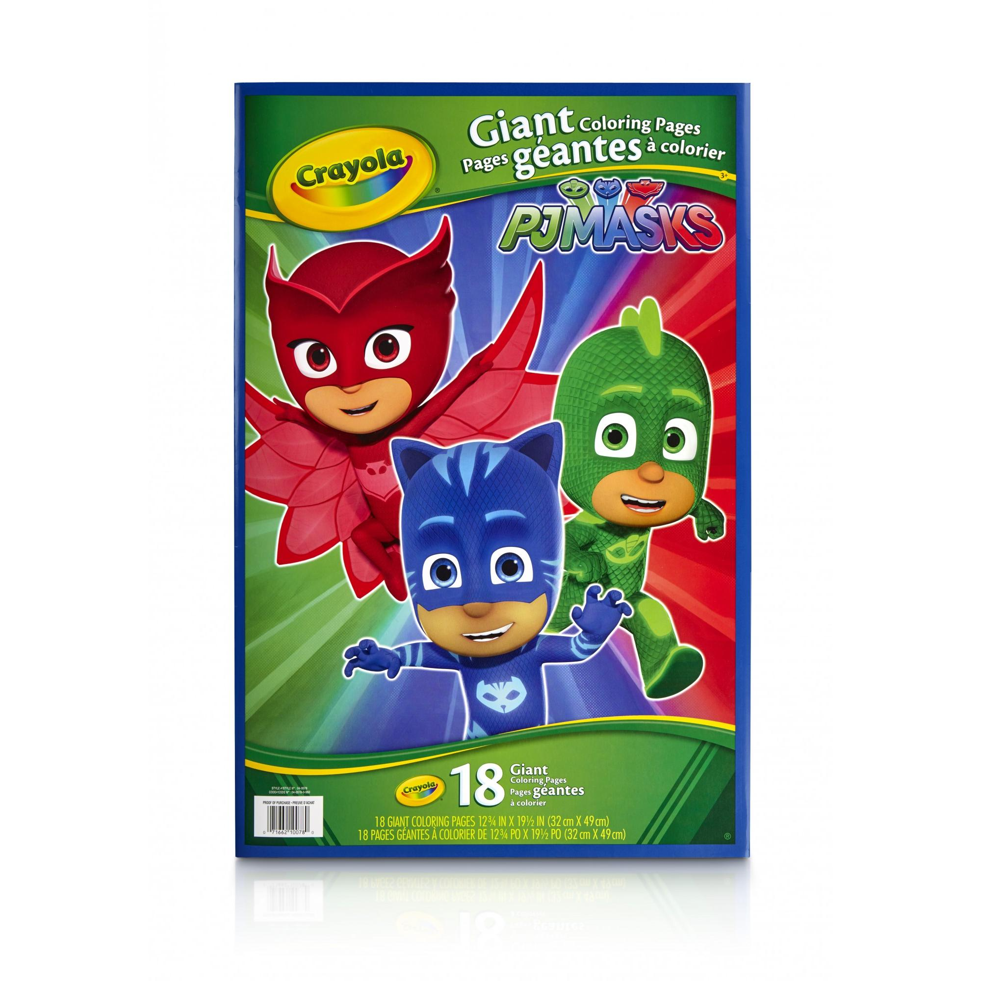 Crayola, Disney's PJ Masks, 18 Giant Coloring Pages, Gift for Kids by Crayola