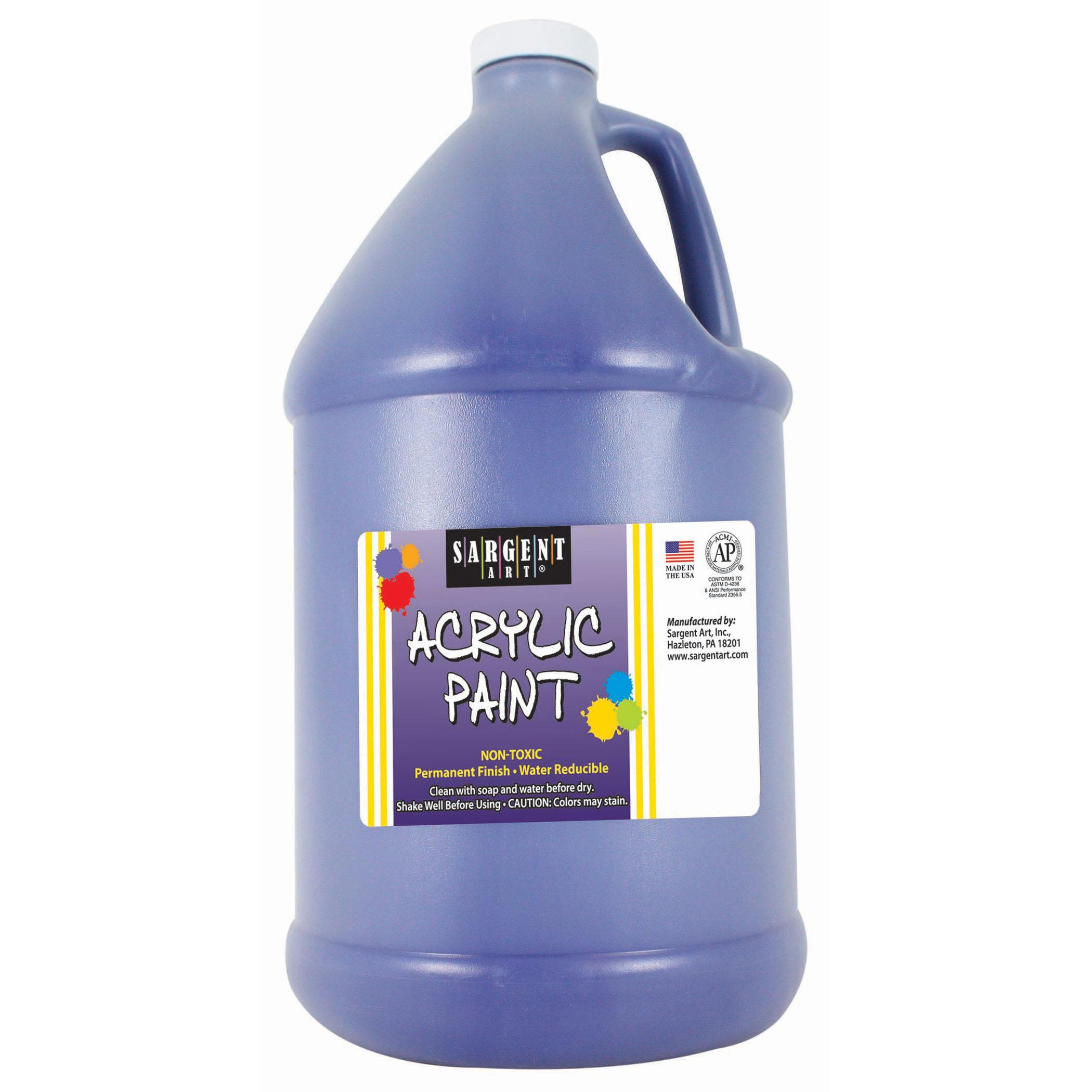 Sargent Art® Acrylic Paint, Blue, 64 oz. Bottle (Half Gallon)