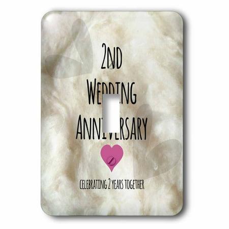 2 Year Wedding Anniversary Gift Cotton : 3dRose 2nd Wedding Anniversary giftCotton celebrating 2 years ...