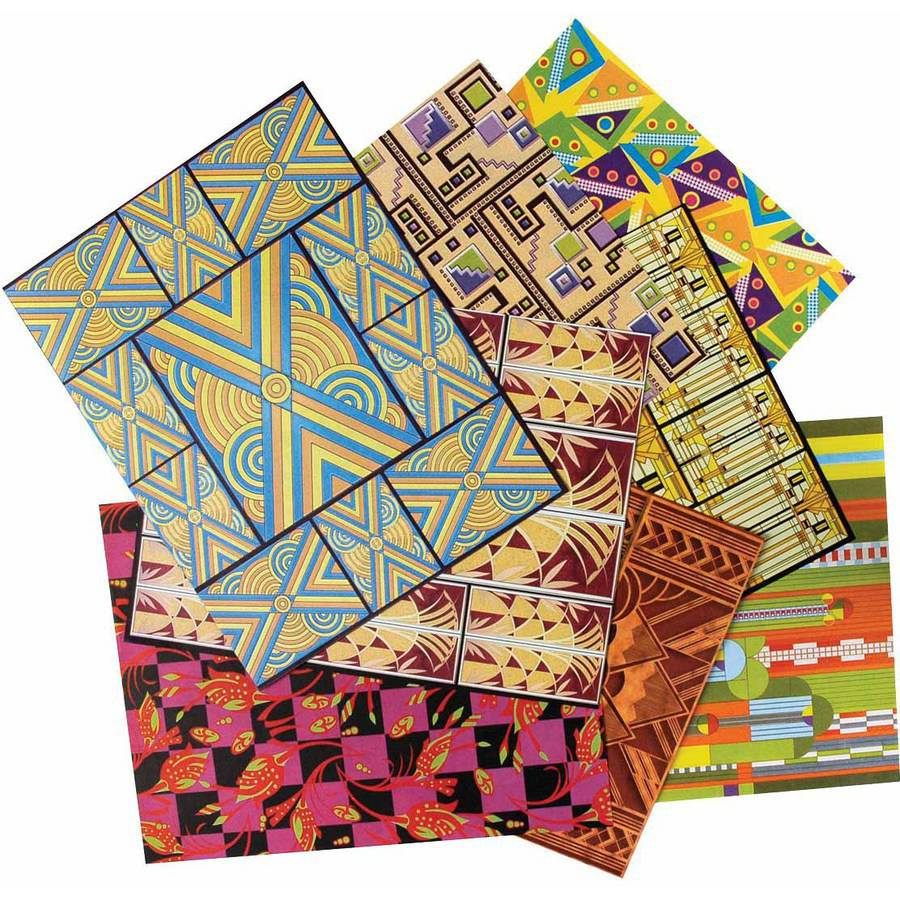 "Roylco Art Deco Design Paper, 8.5"" x 11"", Assorted Colors, Pack of 32"