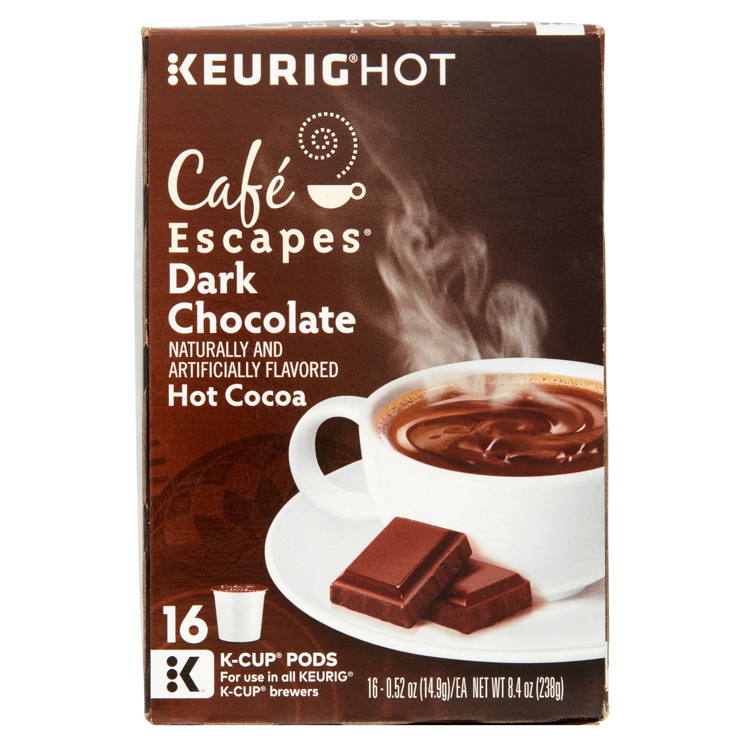 Keurig Hot Café Escapes Hot Cocoa Dark Chocolate K-Cup Pods, 0.52 ...