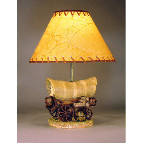 Judith Edwards Designs Covered Wagon 18'' H Table Lamp with Empire Shade