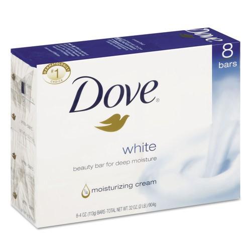 Dove White Beauty Bar 4 Oz, 8 Ct