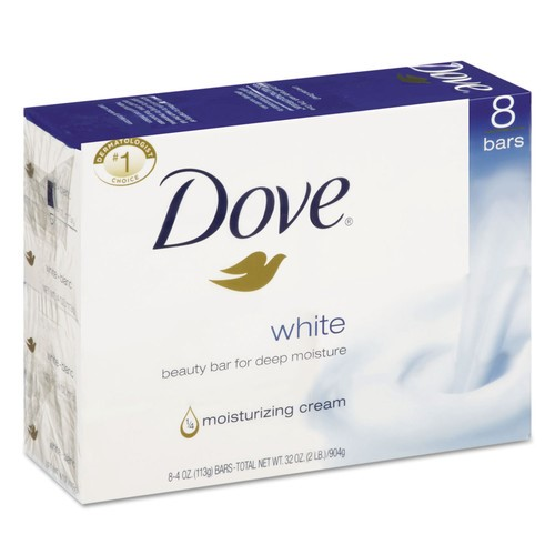 Dove White Beauty Bar 4 Oz, 8 Ct