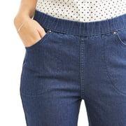 b77aeec1b RealSize - Women's Stretch Denim Pull-On Bootcut Jeans - Walmart.com