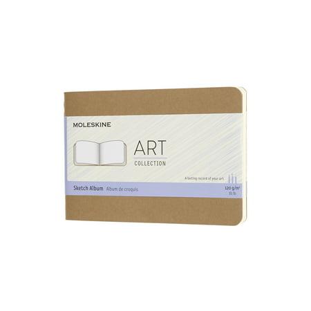 Moleskine Art Cahier, Sketch Album, Pocket, Kraft Brown (5.5 x 3.5)