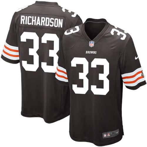 Trent Richardson Cleveland Browns Historic Logo Nike Game Jersey - Brown