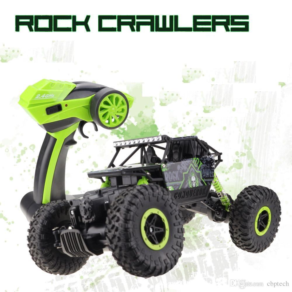 e615e7031c2c 4WD Rock Crawlers Driving Car Drive Bigfoot Remote Control Off-Road Vehicle  green - Walmart.com
