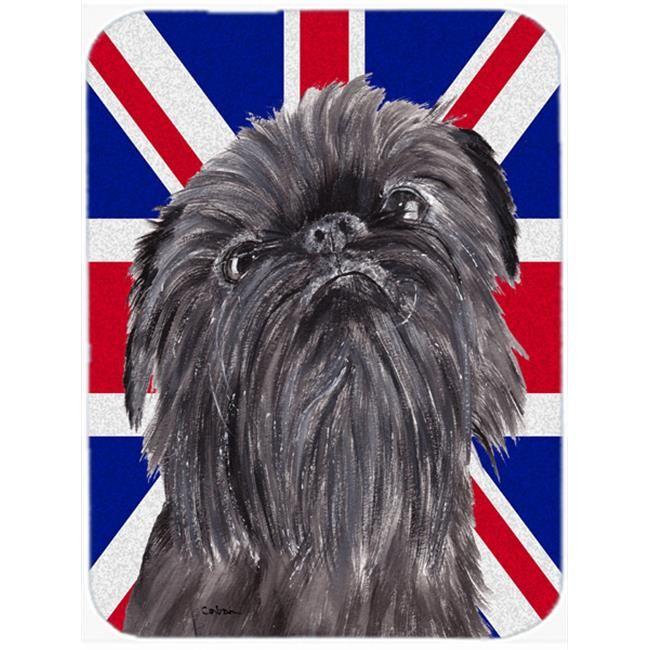 7.75 x 9.25 In. Brussels Griffon With Engish Union Jack British Flag Mouse Pad, Hot Pad Or Trivet - image 1 of 1