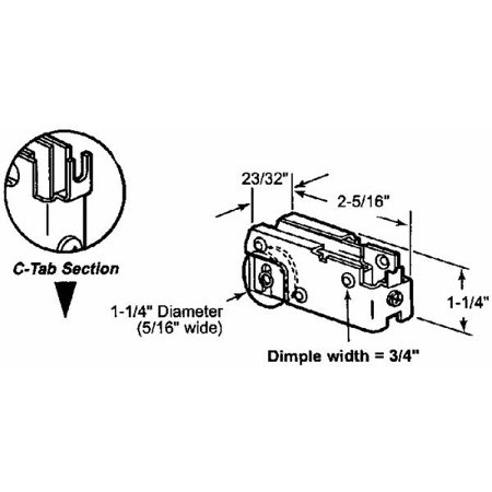 Prime Line Products 131846 Glass Door Roller Assembly