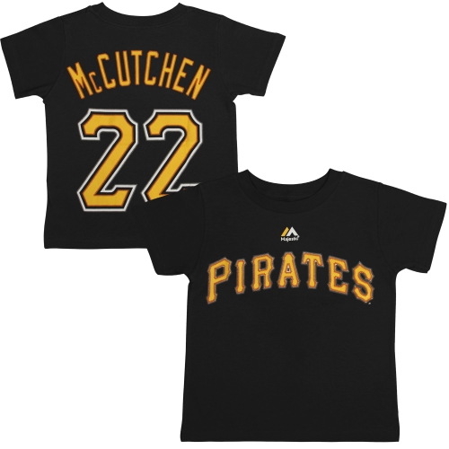 Andrew McCutchen Pittsburgh Pirates Majestic Preschool Player Name & Number T-Shirt - Black