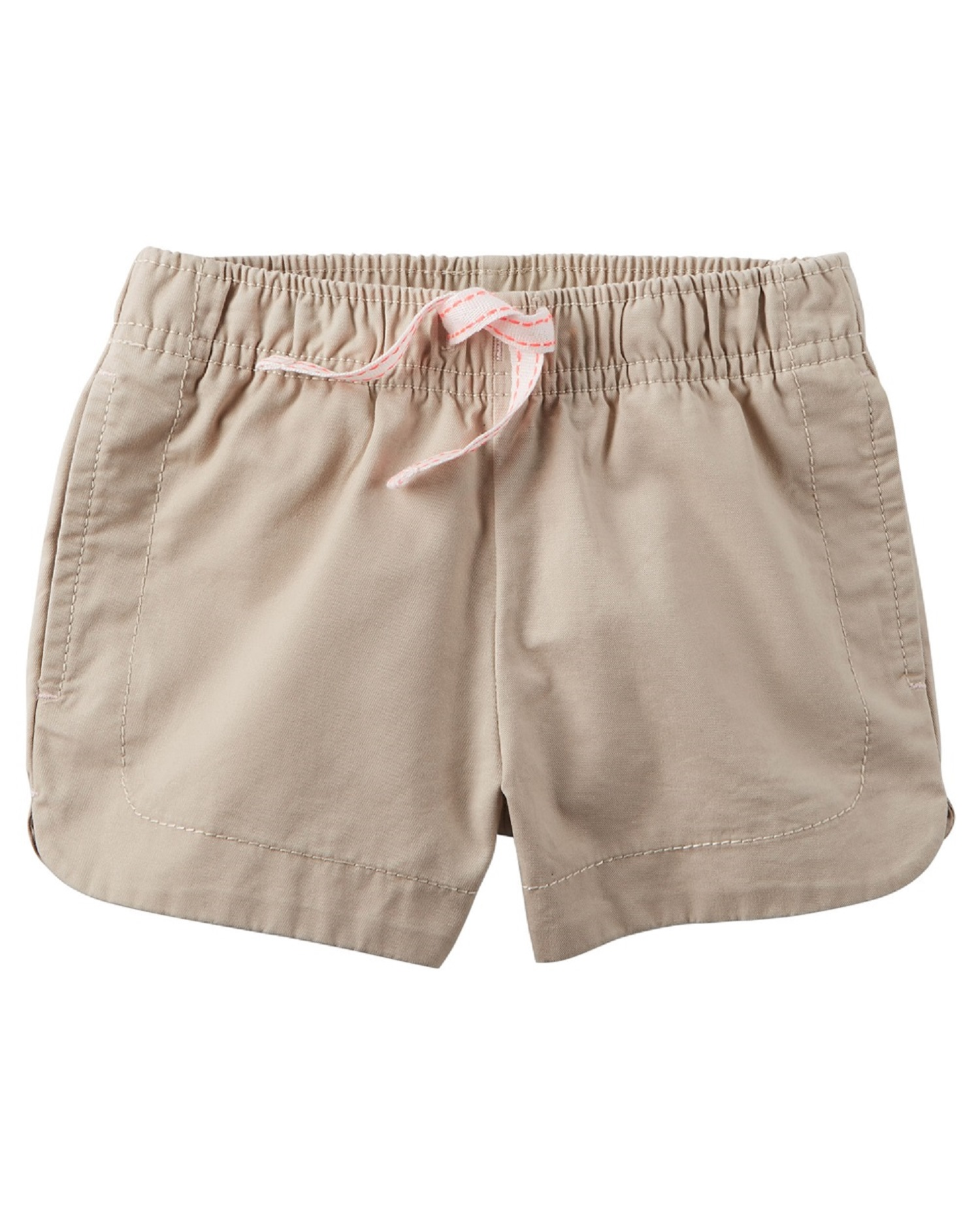 Carter's Baby Girls' Cinch-Up Twill Short, 24 Months