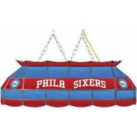 "Trademark NBA4000-PH 40"" Tiffany Style Lamp with NBA Logo, Philadelphia 76ers"