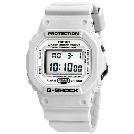 - Casio DW5600MW-7 G-Shock Gray LCD Digital Dial White Resin Band Watch New, 889232189710, BRC - $99
