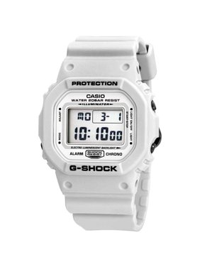 Product Image Casio DW5600MW-7 G-Shock Gray LCD Digital Dial White Resin Band Watch New