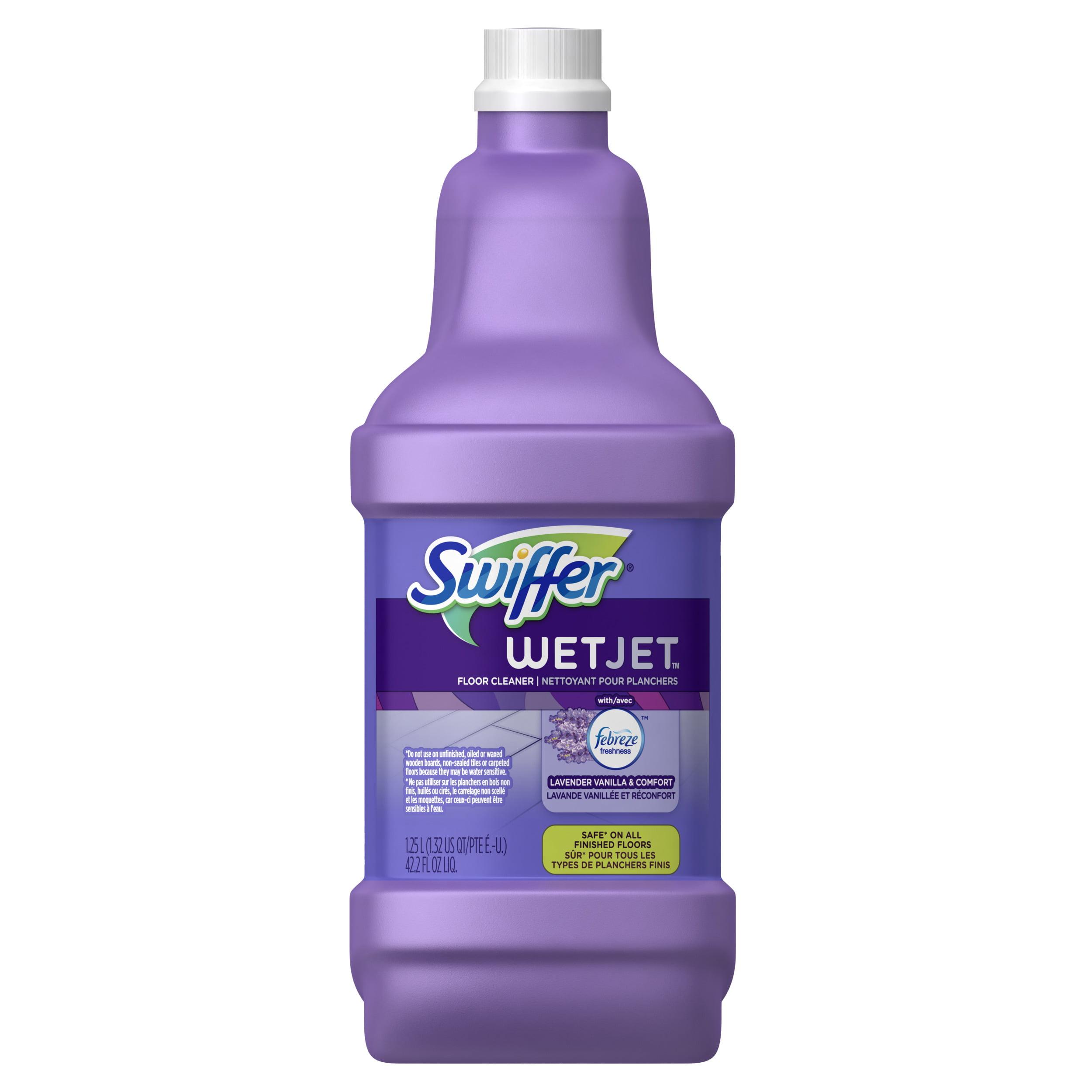 Swiffer WetJet Multi-Purpose and Hardwood Liquid Floor Cleaner Solution Refill, Lavender Vanilla & Comfort, 42.2 fl oz