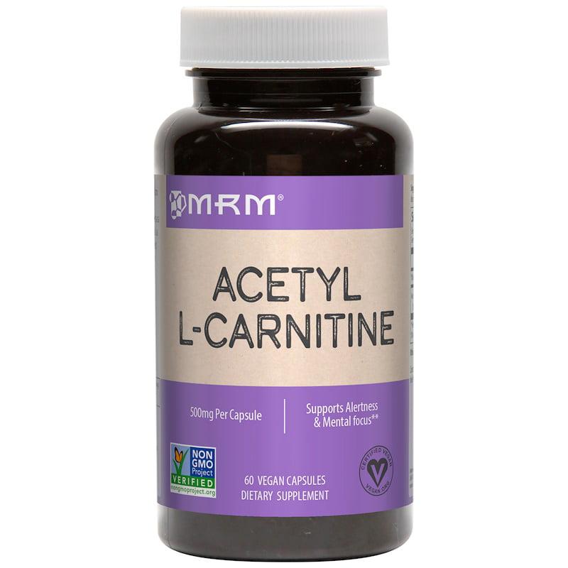 MRM, Acetyl L-Carnitine, 500 mg, 60 Vegan Capsules(pack of 1)