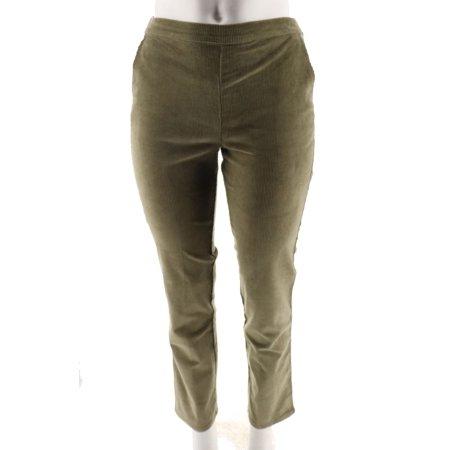 Belted Corduroy Pant (Denim Co Narrow Leg Corduroy Pants A218213)