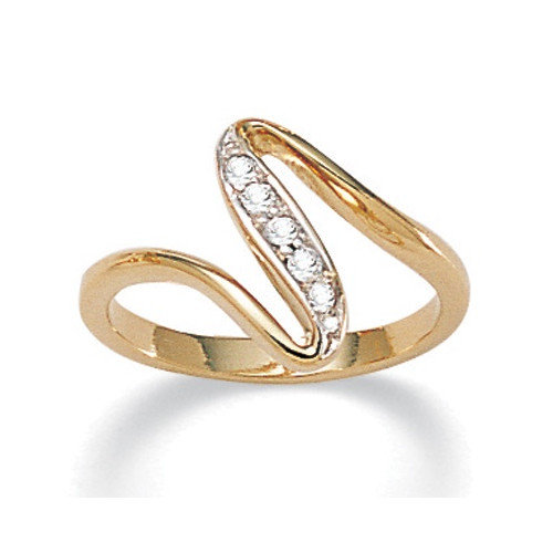 Palm Beach Jewelry Cubic Zirconia Free - Form Ring