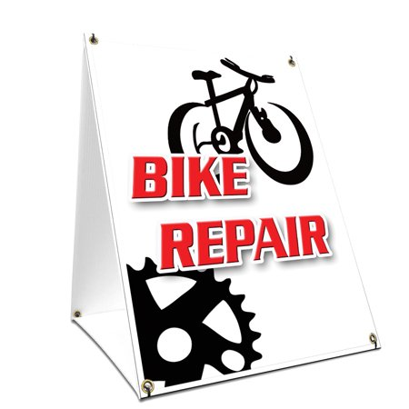 A-frame Sidewalk Air Conditioning Repair & Service Sign With Graphics On Each Side | 18