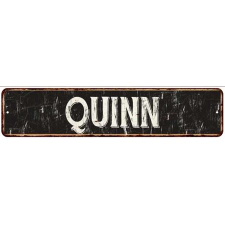 Quinn Street Sign Rustic Chic Sign Home Man Cave Decor Gift Black M41803395