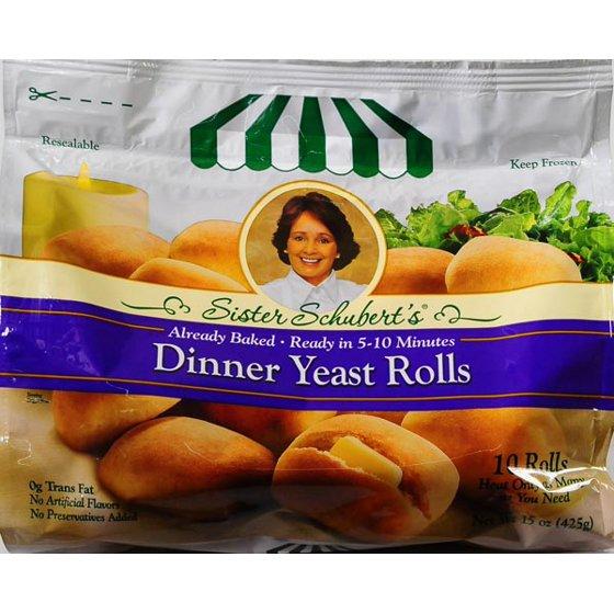 Sister Schubert S Dinner Yeast Rolls 10 Ct Bag Walmart Com