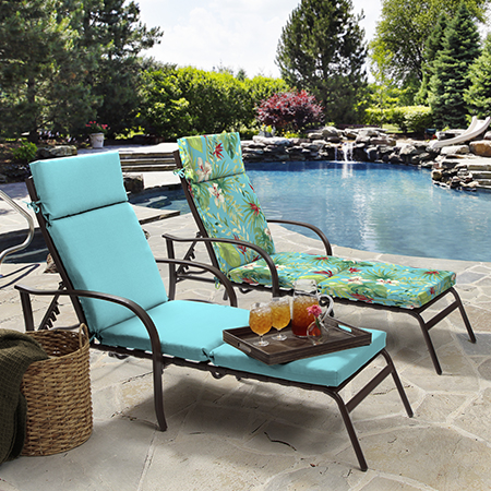 Better Homes and Gardens Teal Aruba Palm Outdoor Cushion Collection