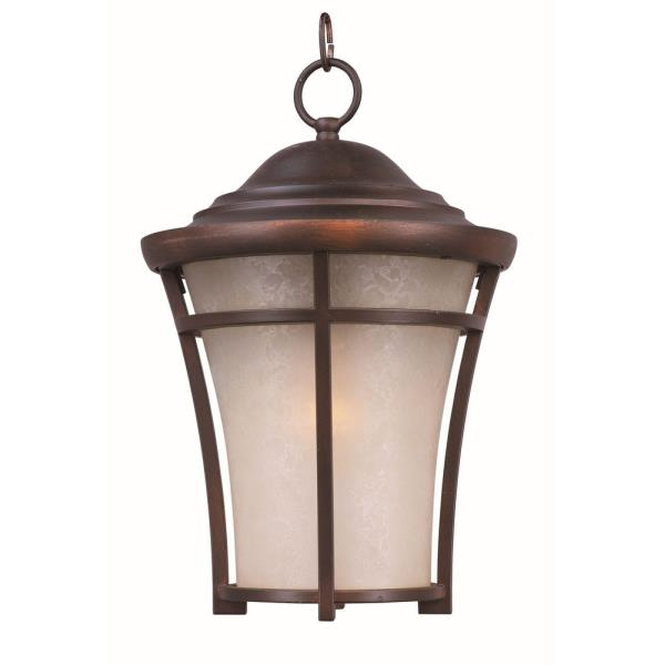 Maxim Lighting Balboa DC - One Light Large Outdoor Hanging Lantern, Copper Oxide Finish with Lace Glass