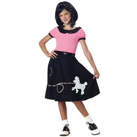 50s Hop with Poodle Skirt Child - Car Hop Costume