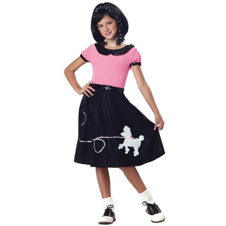 50s Hop with Poodle Skirt Child Costume for $<!---->