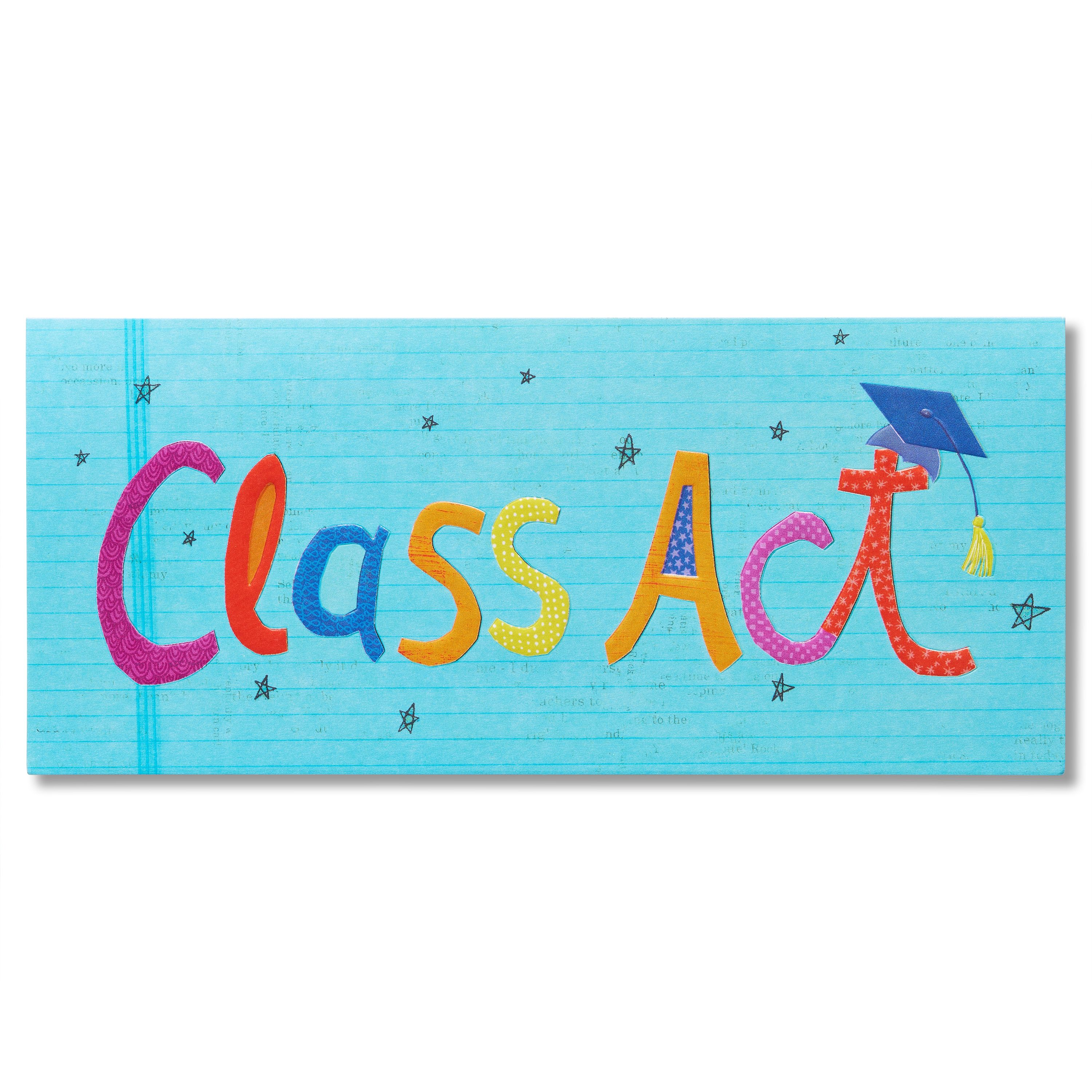 American Greetings Gift Card Holder Graduation Card with Glitter